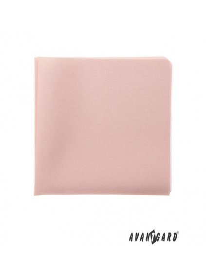 Pudrový jednobarevný kapesníček
