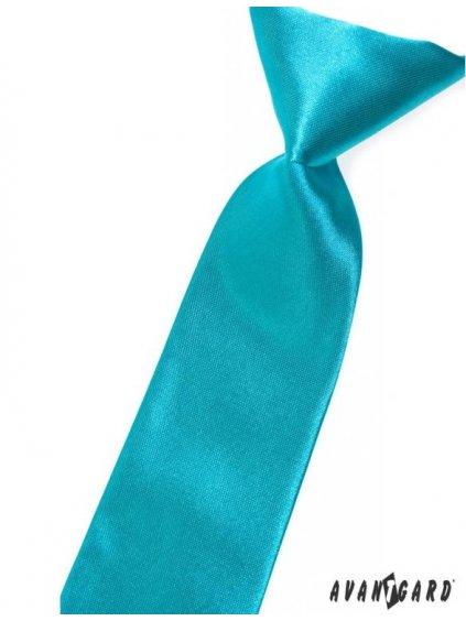 Tyrkysová dětská kravata na gumičku