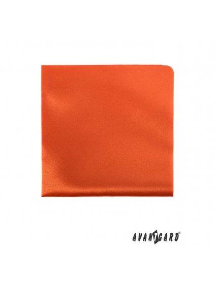 Oranžový kapesníček do saka