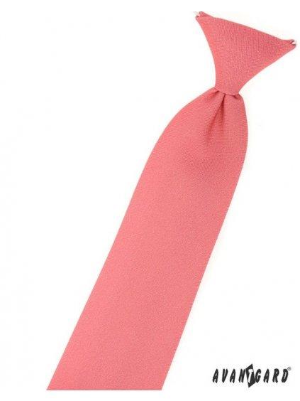 13445 1 koralova chlapecka matna kravata