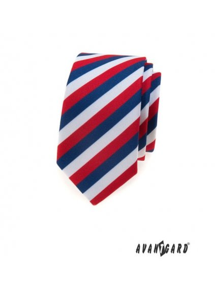 trikolora slim kravata