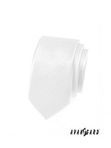 bila leskla slim kravata avsl721