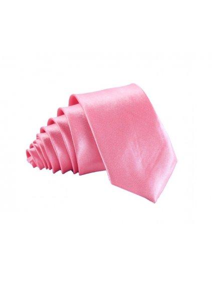 ruzova leskla kravata