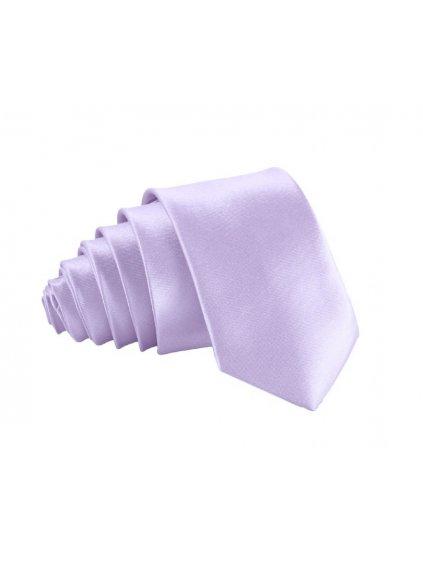 svetle lila slim kravata