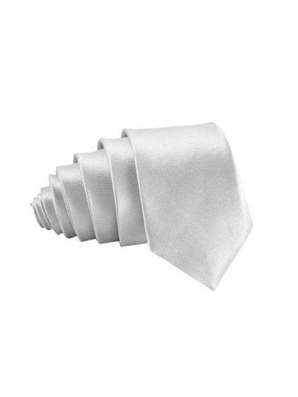 stribrna leskla kravata