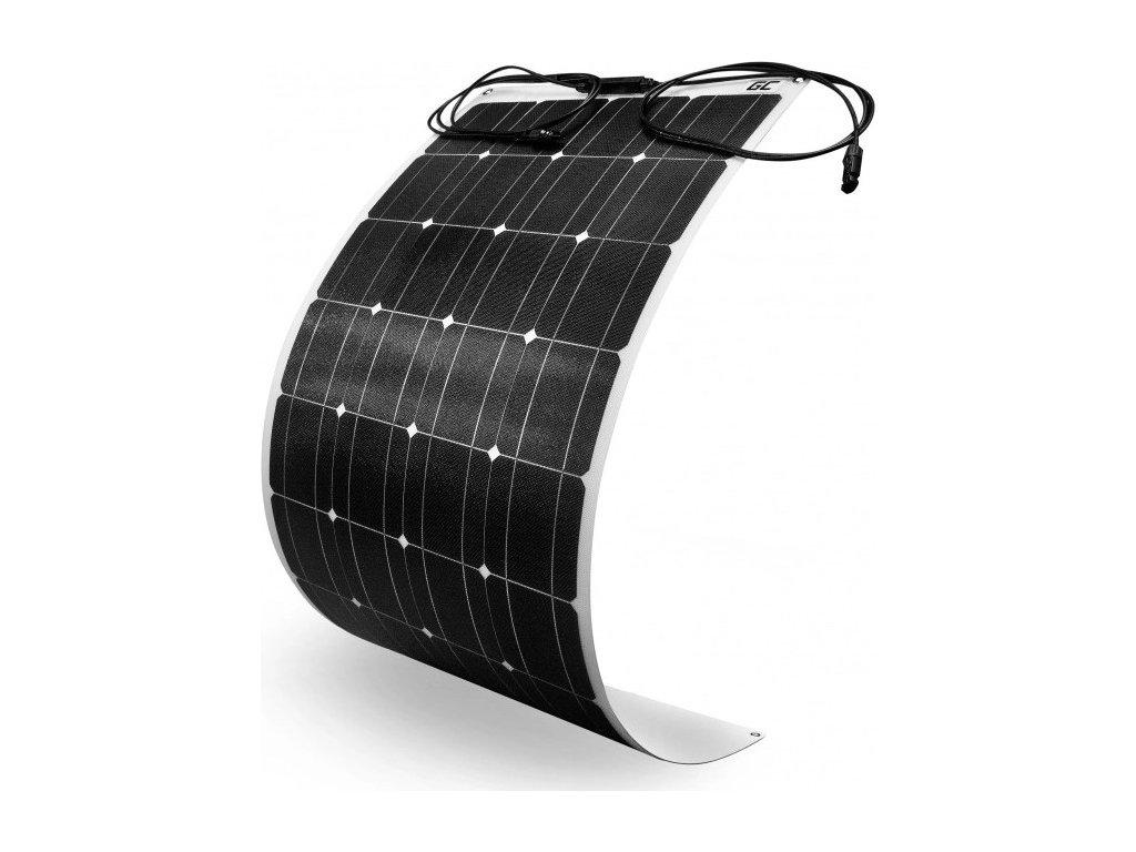Flexibilný Solárny panel Solárny modul Green Cell GC Solar Panel 100W / Monokryštalický / 12V 18V / ETFE / MC4