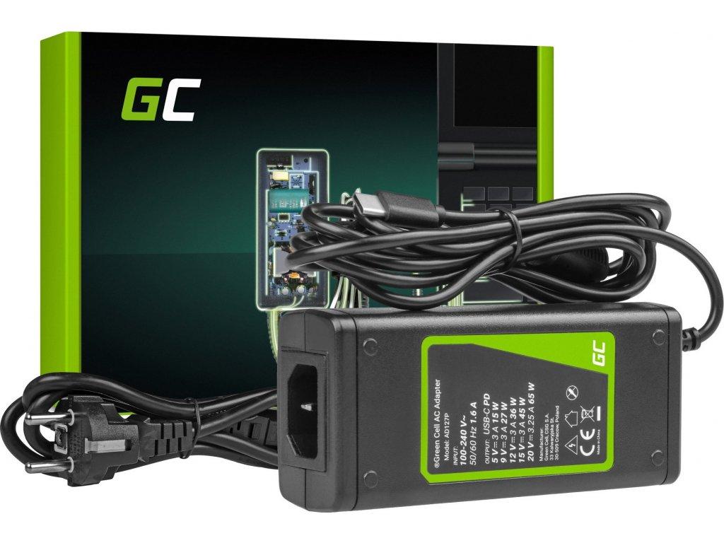 AC adaptér USB-C 65W nabíjačka pre notebooky, tablety a telefóny