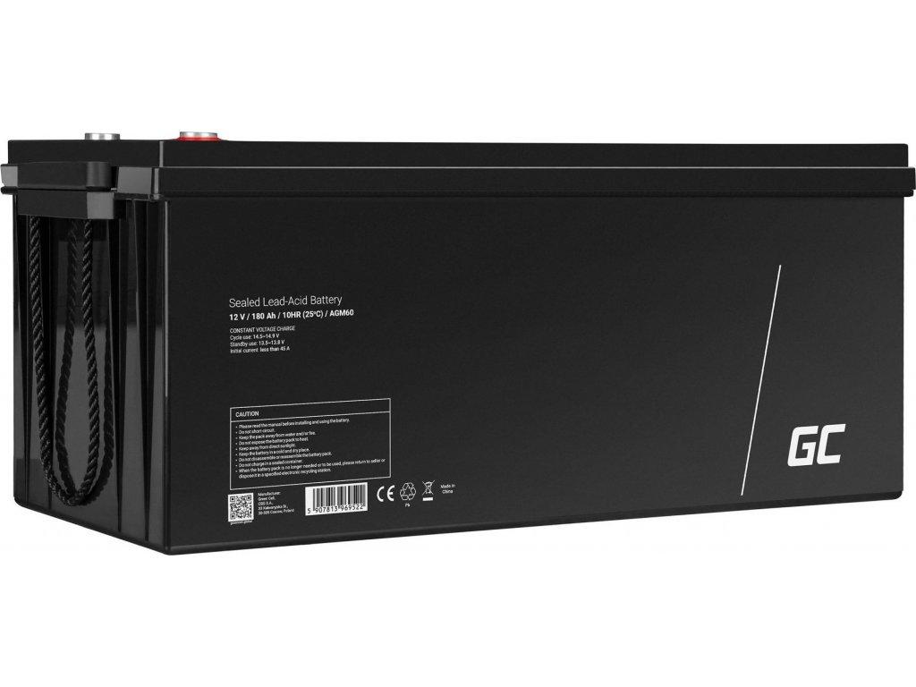 AGM VRLA 12V 180Ah Bezúdržbová batéria pre solárne panely, do karavanov ...