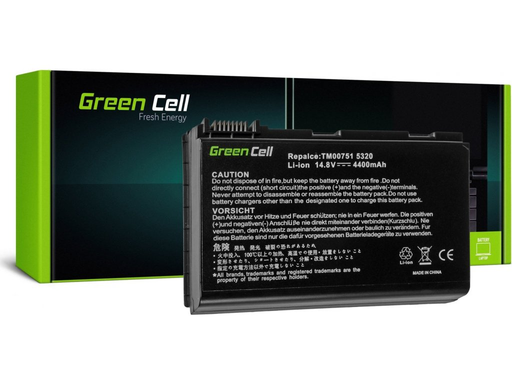 Batéria do notebooku Acer Extensa 5220 5620 5520 7520 GRAPE32 14.8V 8 cell