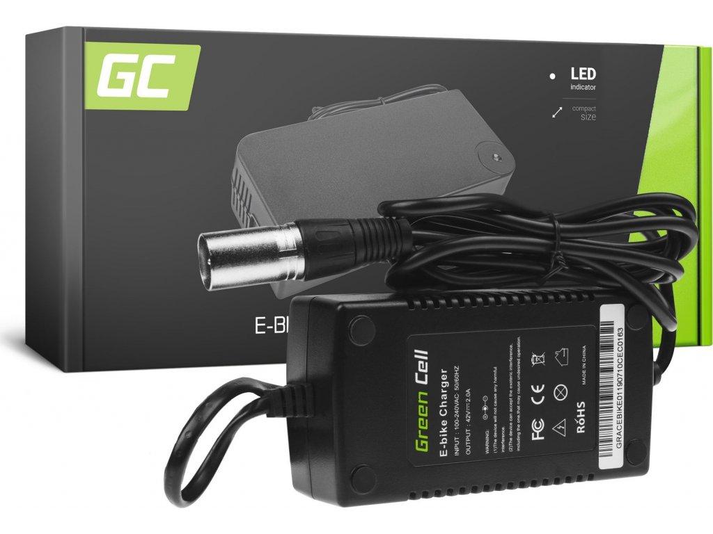Nabíjačka Green Cell pre batérie do elektrobicyklov 42V 2A
