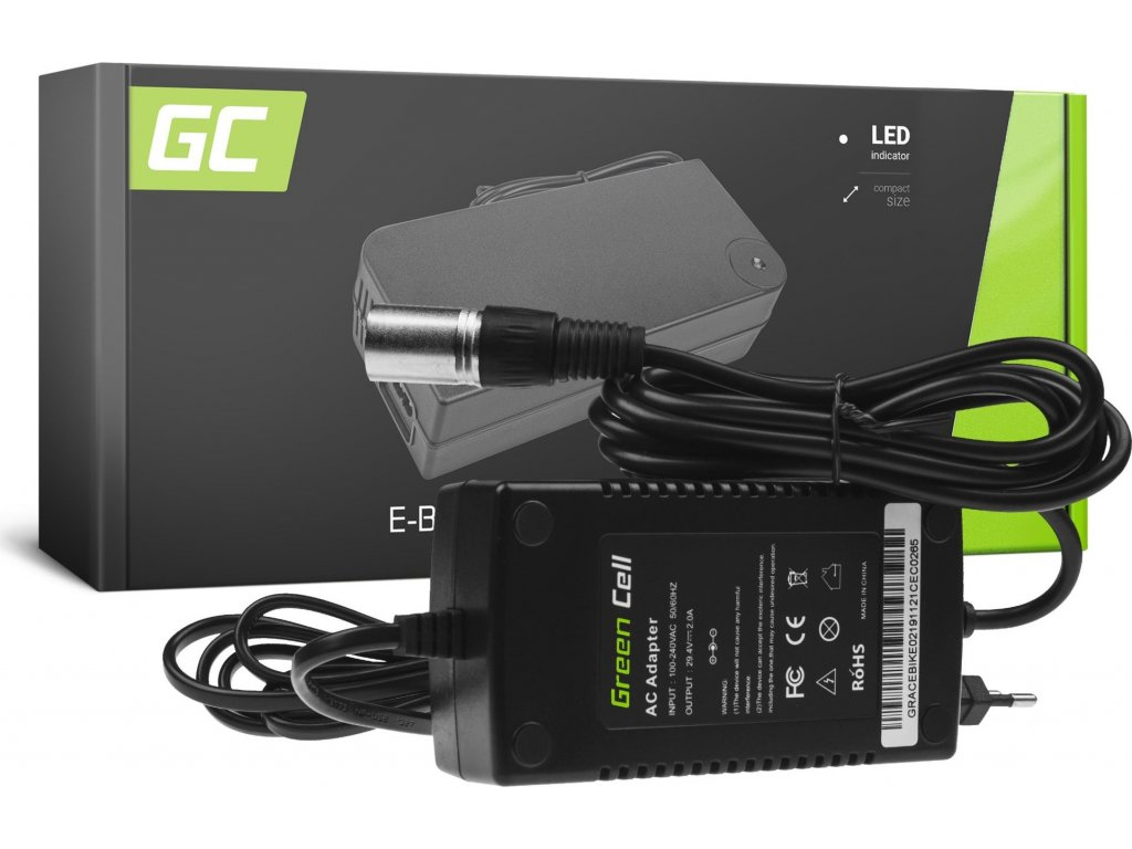 Nabíjačka Green Cell pre batérie do elektrobicyklov 24V 2A