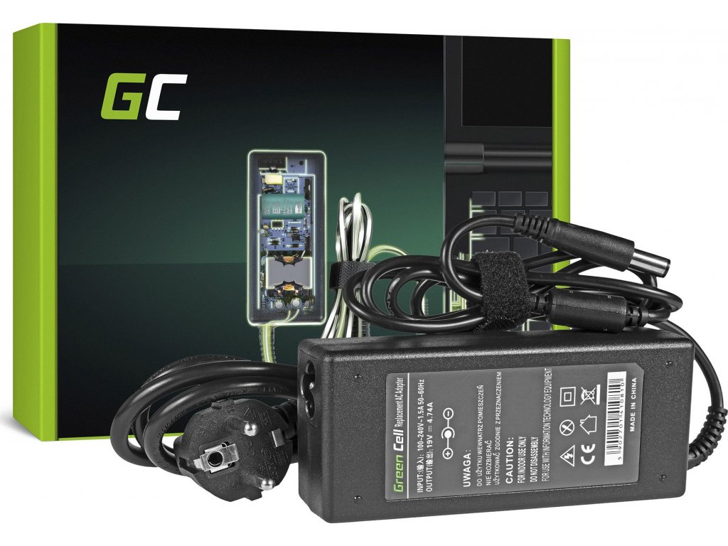 Nabíjačka Green Cell na notebook HP DV4 DV5 DV6 ProBook 4510s 4515 4710s CQ42 G42 G61 G62 G71 G72 19V 4.74A