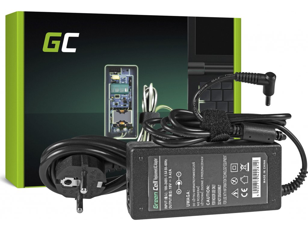 Nabíjačka Green Cell PA-1650-78 do AsusPro Advanced BU400 BU400A BU400V BU400VC Essential PU301 PU401 PU500 PU551