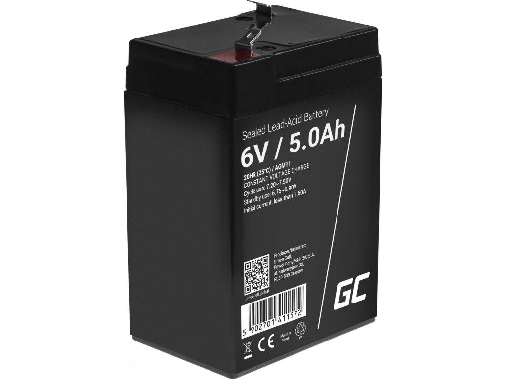 Batéria AGM Green Cell 6V 5Ah