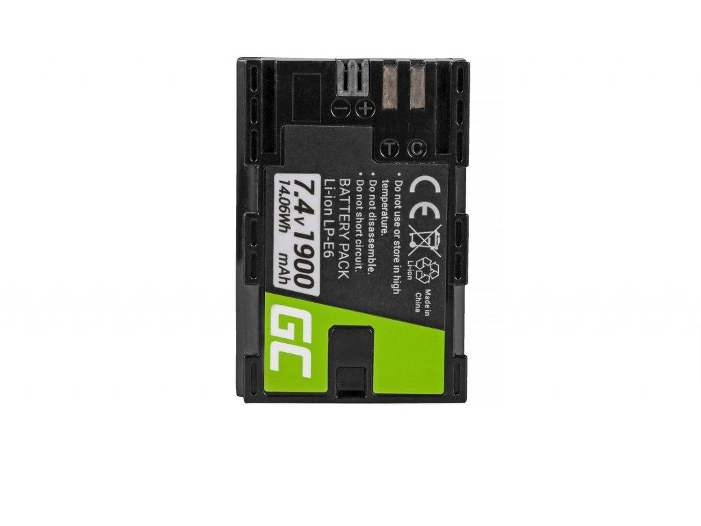 Batéria LP-E6/LP-E6N do fotoaparátu Canon EOS 70D, 5D Mark II/ III/IV, 80D, 7D Mark II, 60D, 6D, 7D 7.4V 1900mAh
