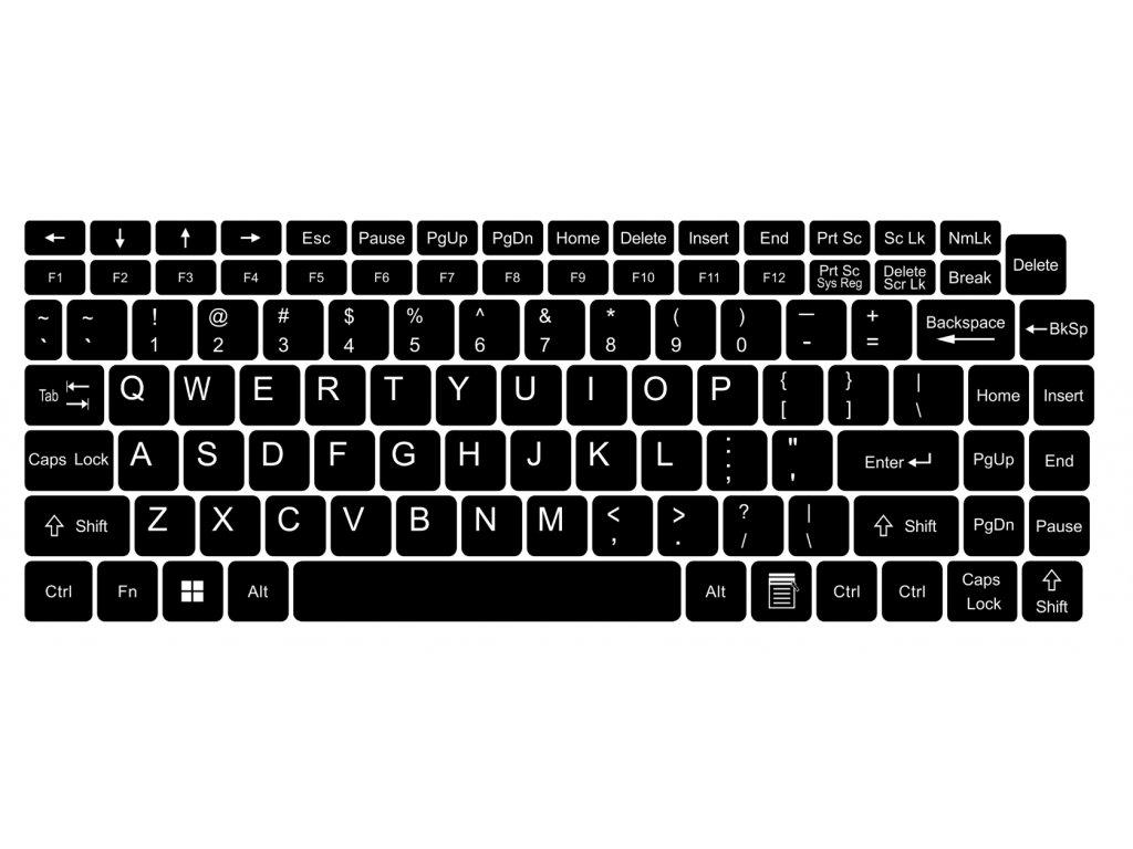 Nálepky na celú klávesnicu pre notebook a PC 13 x 13