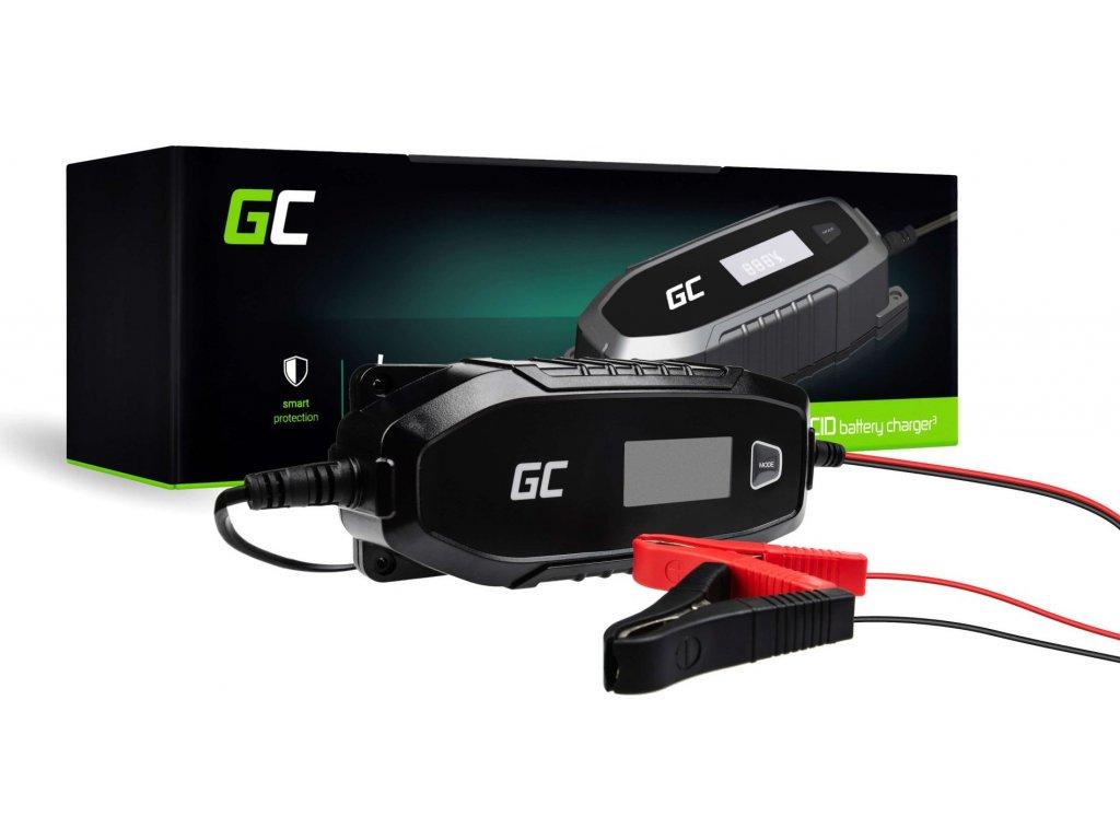 Automatická nabíjačka, usmerňovač Green Cell pre akumulátor 6V / 12V (4A) s funkciou inteligentnej diagnostiky