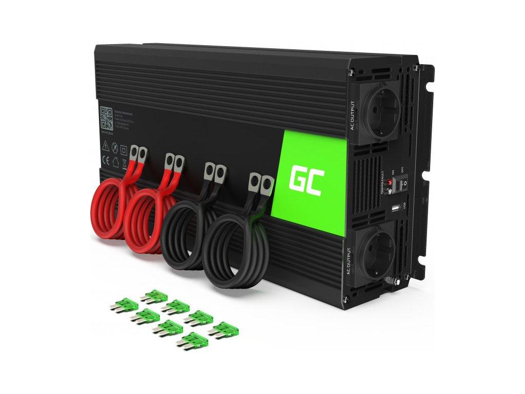 Automobilový menič napätia Green Cell® 12V na 230V čistý sínus 3000W