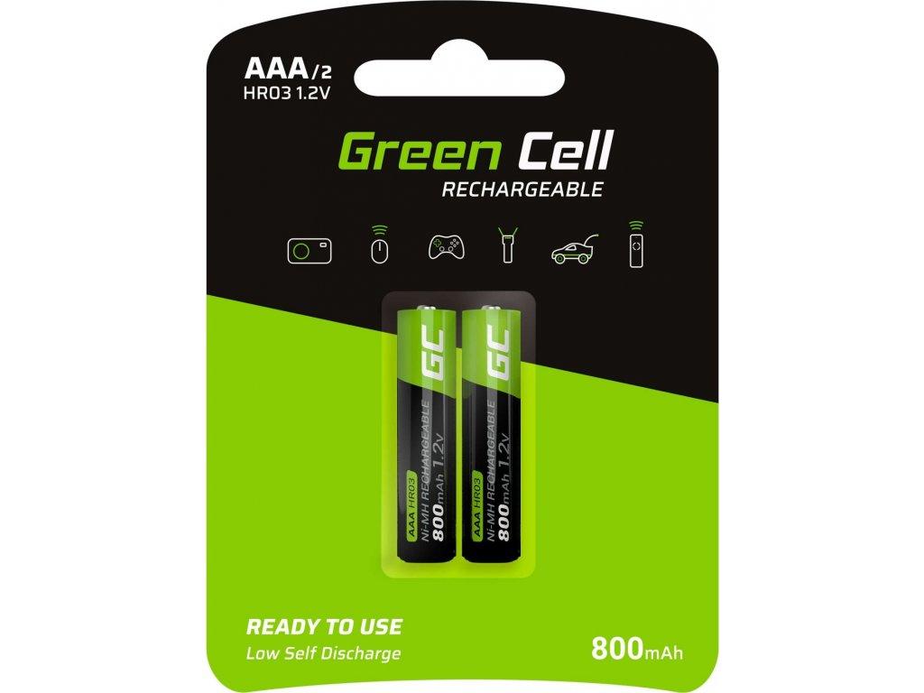 Green Cell 2x Batéria AAA HR03 800mAh