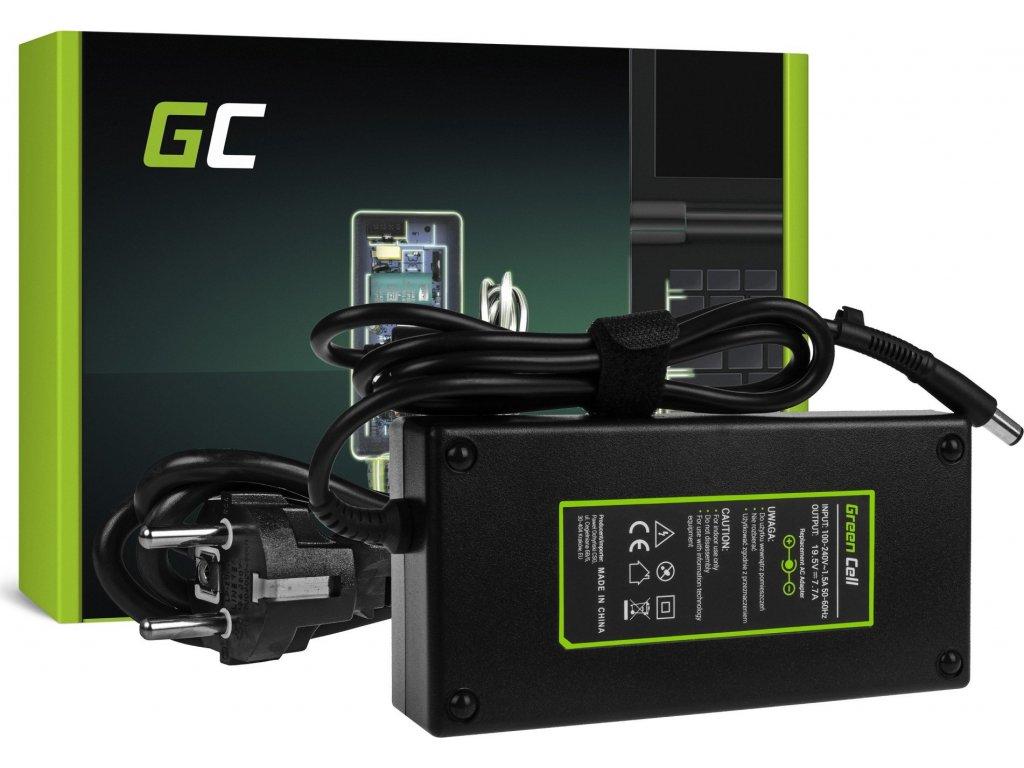 Nabíjačka Green Cell 19.5V 7.7A 150W HSTNN-CA27 do HP EliteBook 8530p 8540p 8540w 8560p 8560w 8570w 8730w HP ZBook 15
