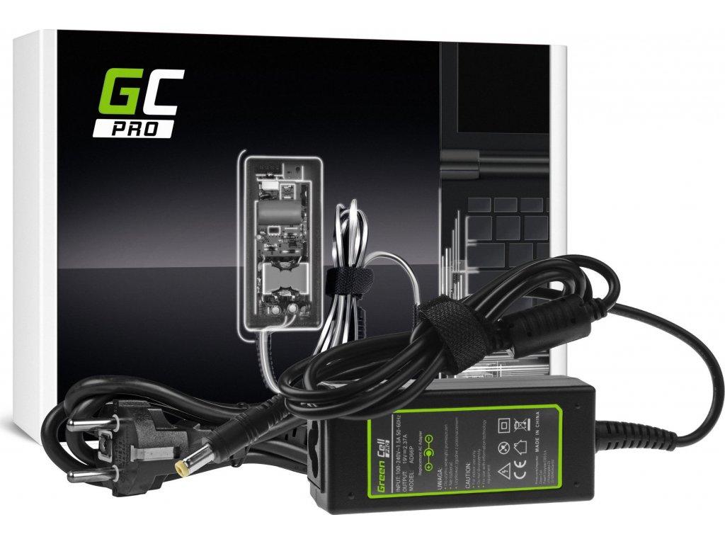 Green Cell PRO Charger | AC Adaptér pre Acer Aspire E5-511 E5-521 E5-573 E5-573G ES1-131 ES1-512 ES1-531 V5-171 19V 2.37A 45W