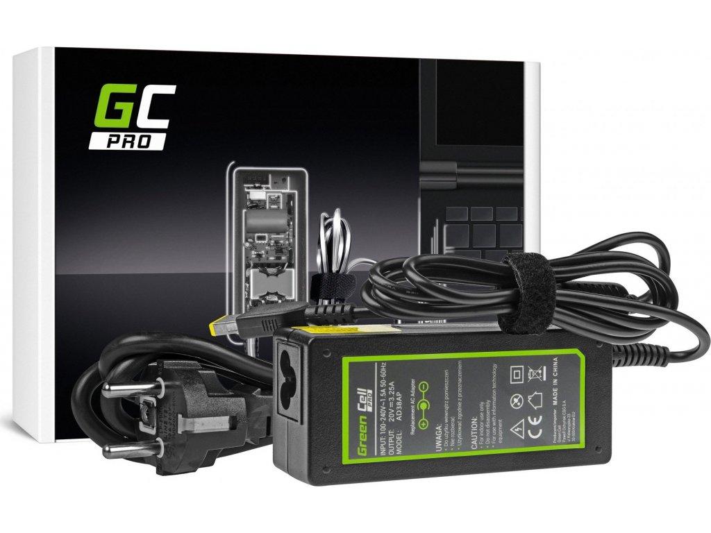 AC adaptér Green Cell PRO 20V 3.25A 65W pre Lenovo B50 G50 G50-30 G50-45 G50-70 G50-80 G500 G500s G505 G700 G710 Z50-70