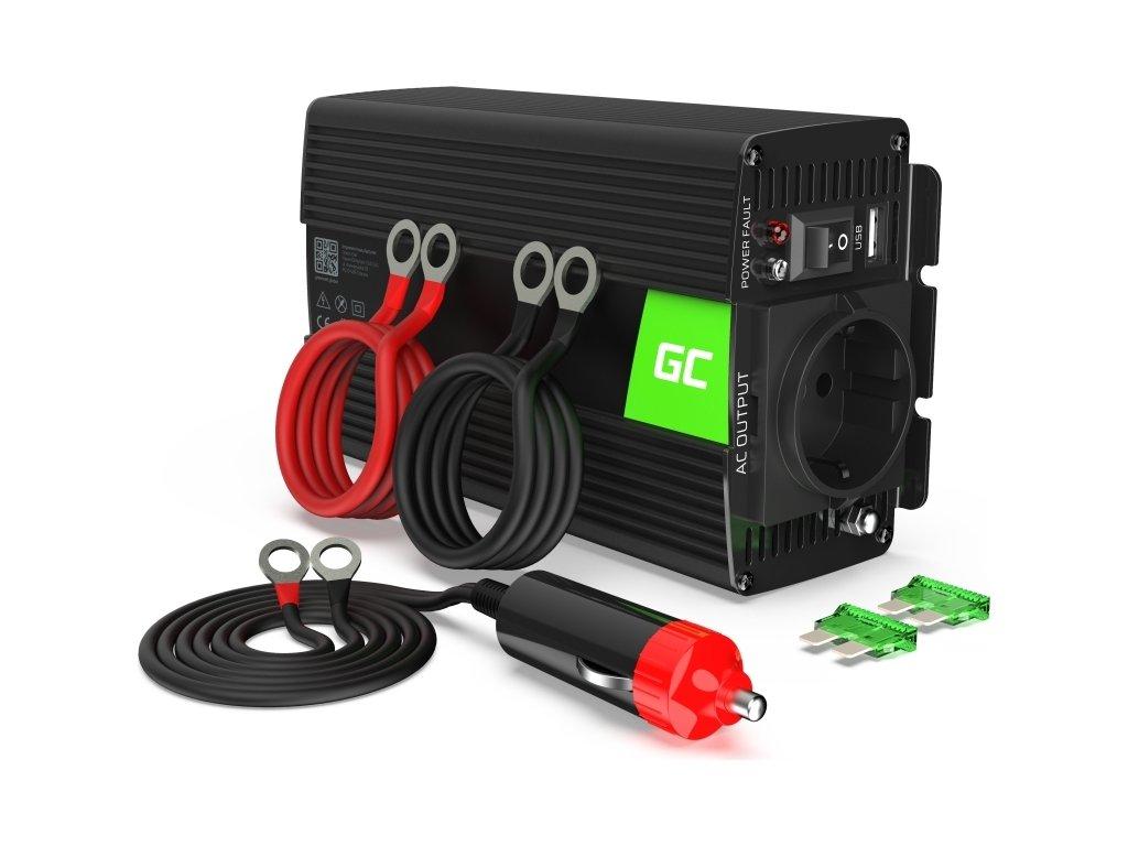 Automobilový menič napätia Green Cell ® Voltage Car Inverter 12V to 230V, 500W/1000W