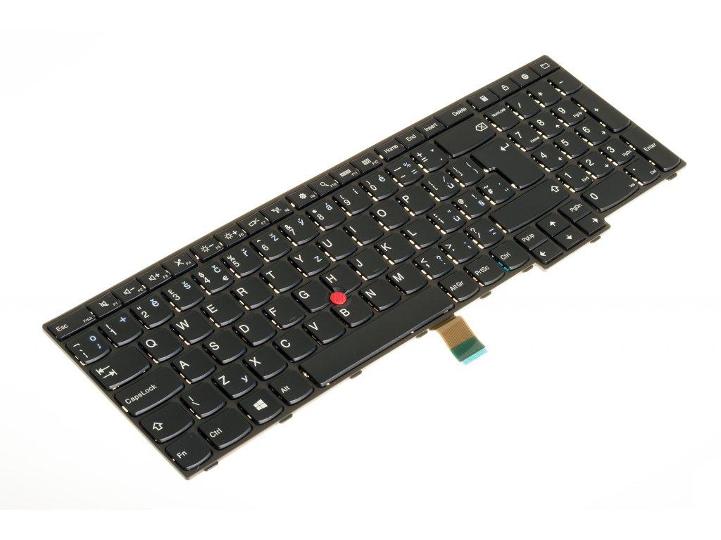 8150 73905 klávesnica Lenovo Thinkpad E550 E550C E555 E555C E560 E565 black CZ dotlač lenovo keyboard 9