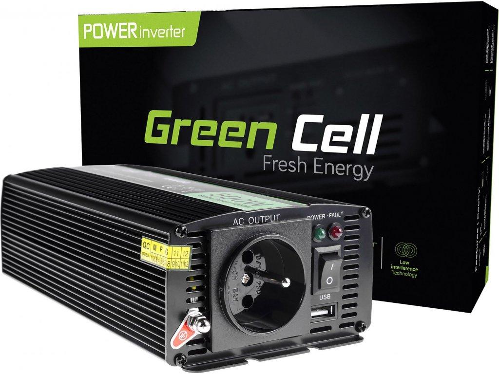 Automobilový menič napätia Green Cell ® 24V do 230V, 500W/1000W