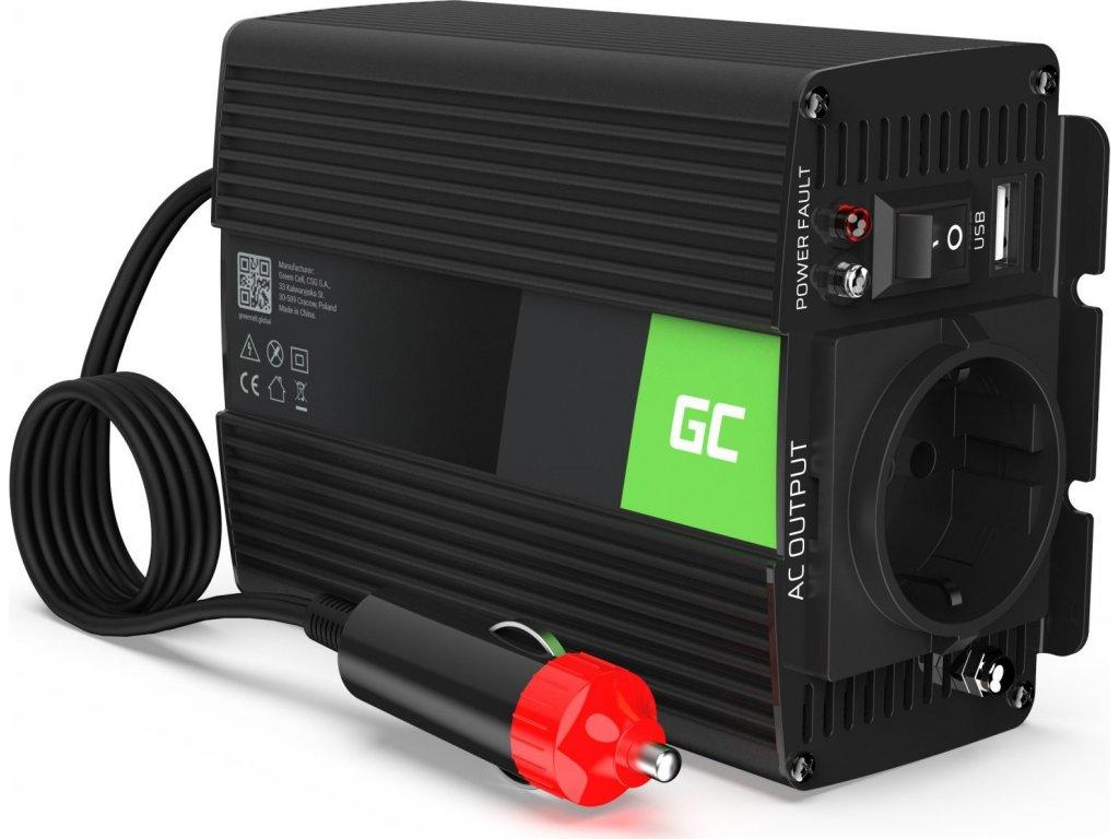 Automobilový menič napätia Green Cell ® 12V do 230V, 150W/300W