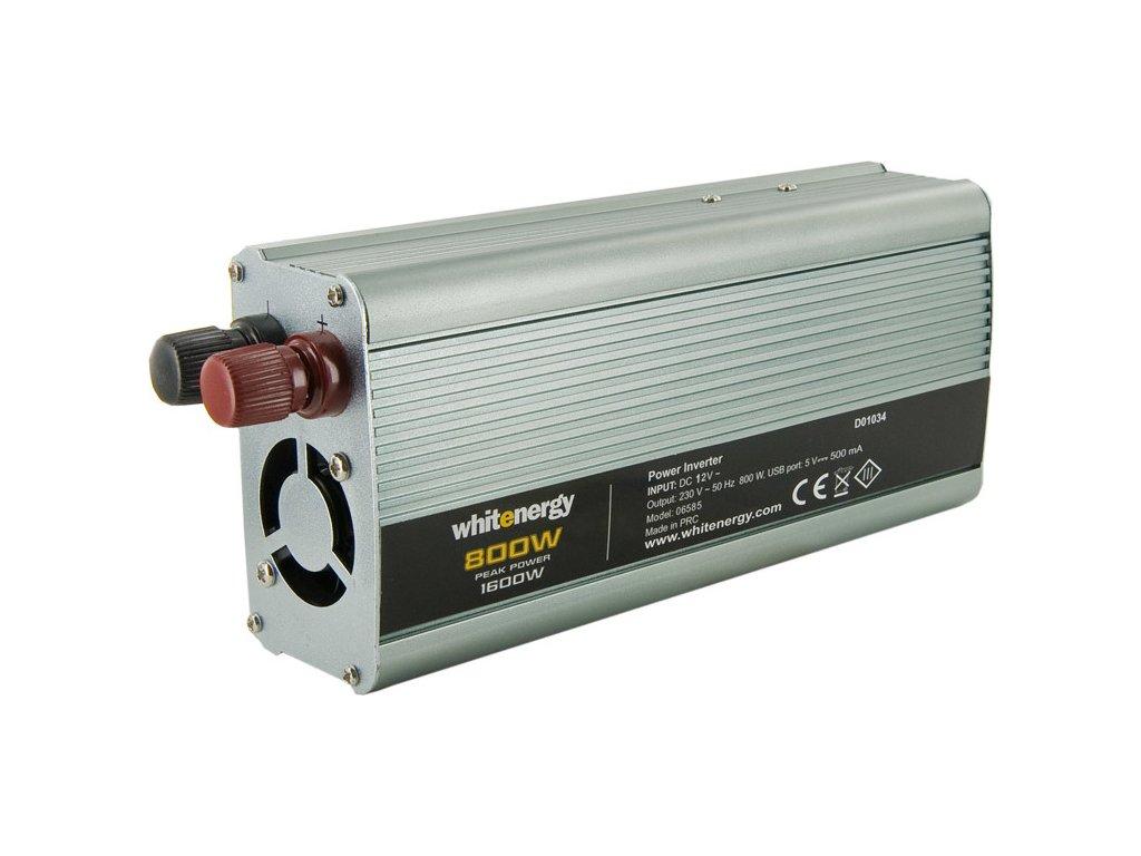 WE Menič napätia  DC/AC 12V / 230V, 800W, USB