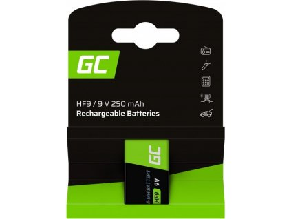 Battery 1x 9V HF9 Ni-MH 250mAh Green Cell