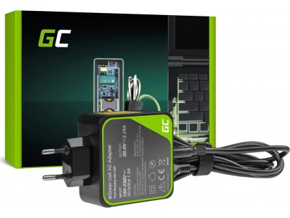 Charger / AC Adapter Green Cell PRO 20V 3.25A 65W for Lenovo Yoga 4 Pro 700-14ISK 900-13ISK