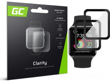 Ochranné tvrdené sklo pre Apple Watch 4/5 40mm 2x GC Clarity