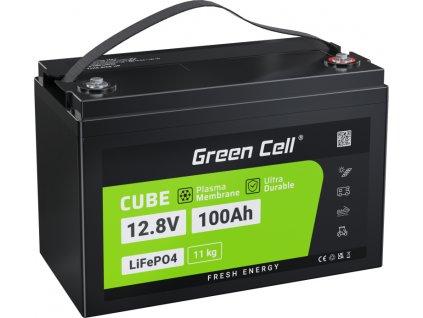 LiFePO4 batéria 100Ah 12.8V 1280Wh lítium železo fosfátová batéria