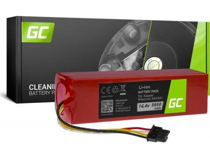 Batéria  (5.8Ah 14.4V) BRR-2P4S-5200S XJT-2P4S-5200 Green Cell do Xiaomi Roborock S6 S50 S51 S55 S60 S61 S65 Sweep One