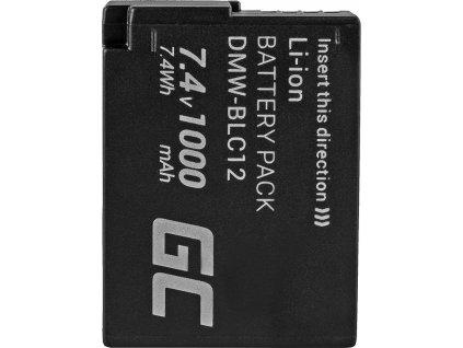 Bateria Green Cell ® DMW-BLC12 do Panasonic FZ2000, G81, FZ1000, FZ300, G6M, GX8M, G70M, G70KA, GX8EG-K, GX8, G70 7.4V 1000mAh