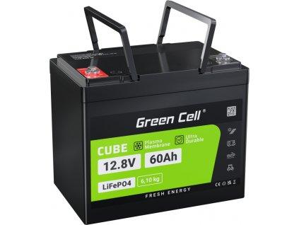 LiFePO4 batéria 12.8V 60Ah lítium železo fosfátová batéria