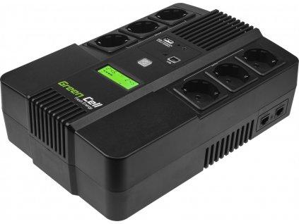 Záložný zdroj UPS s LCD obrazovkou 600VA