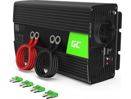 Automobilový menič napätia Green Cell ® 12V do 230V, 1000W/2000W,čistá sinusoida