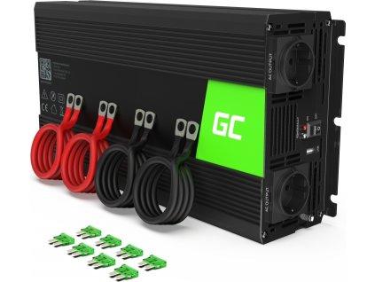 Automobilový menič napätia Green Cell ® 12V do 230V, 2000W/4000W,čistá sinusoida