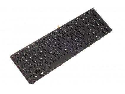 Klávesnica HP Probook 450 G3 455 G3 470 G3 black CZ SK podsvietená + touchpoint 4