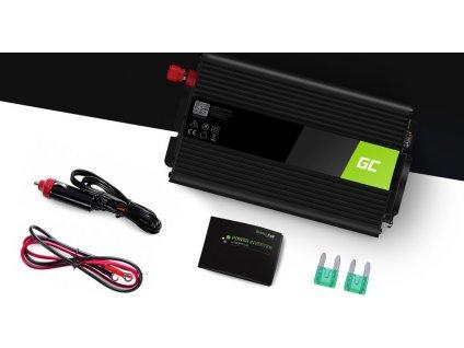 Automobilový menič napätia Green Cell ® 24V do 230V, 300W/600W