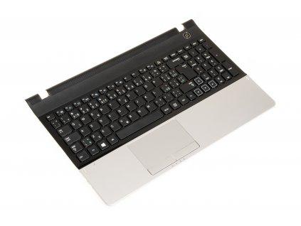Klávesnica Samsung NP300E5A NP300E5C NP305E5A black silver SK CZ palmrest 2