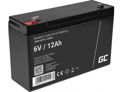 Batéria AGM Green Cell 6V 12Ah
