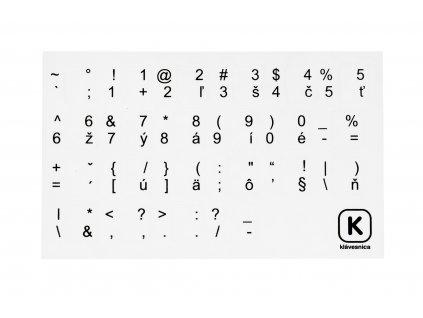 Čierné Slovenské Prelepky(nálepky) na klávesnicu na notebook