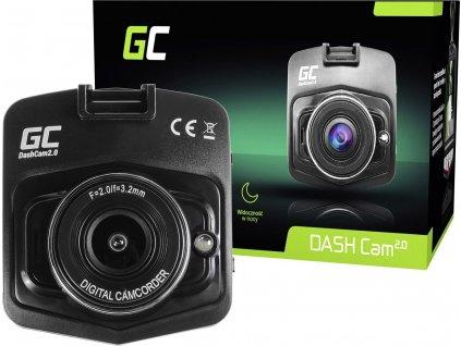 Kamera do auta Green Cell Dash Cam 2.0 Full HD 1080p G-Sensor s nočným režimom