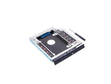 """Rámček (redukcia) 2,5"""" HDD SSD SATA 9,8 mm disk do notebooku namiesto optickej mechaniky"""