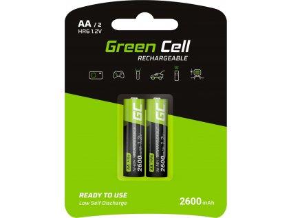 Green Cell 2x Batéria AA HR6 2600mAh