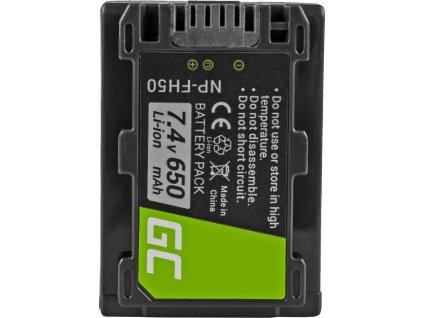Batéria  NP-FH50 do Sony DCR-HC45, DCR-SR300E, DCR-SR70, DCR-SX50E 7.4V 650mAh